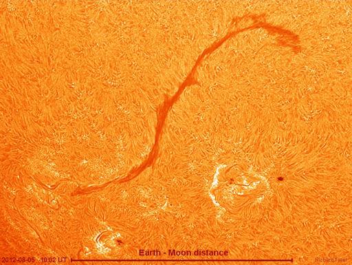 Гигантские магнитные нити на Солнце