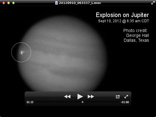 Impact on Jupiter, 10-SEP-2012