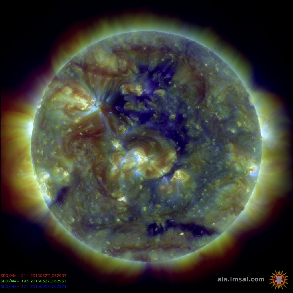Hole in the sun being watched by NASA