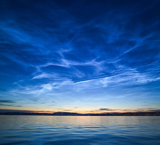 Noctilucent Clouds A Strange New Phenomenon Electric-Blue Visitors From The Twilight Zone Electricblue_strip