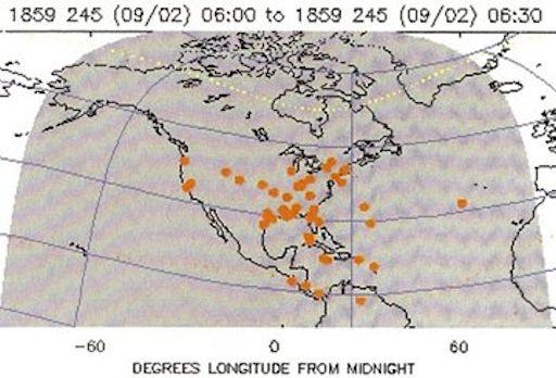 Anderhalve eeuw geleden trof een super zonnestorm de aarde