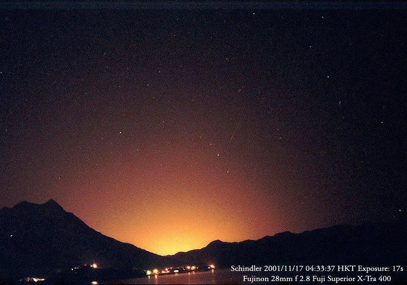 Leonids 2001 Meteor Gallery